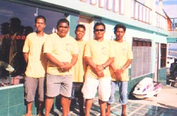 crew of a Cebu diveshop
